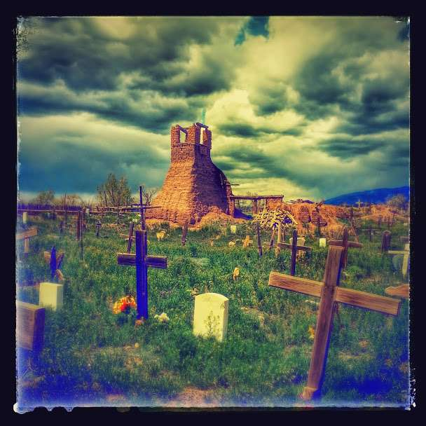 A photo I took in Taos At the Pueblo Reservation. The Cemetery